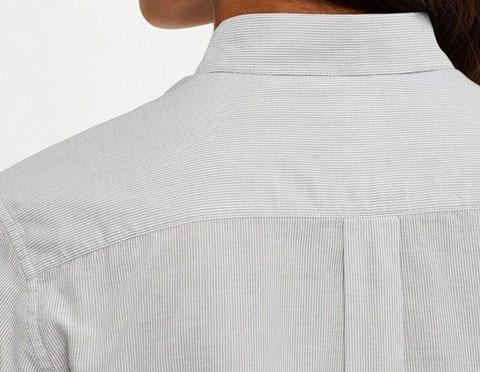 ソフトコットンストライプシャツ(長袖)、05 GRAY