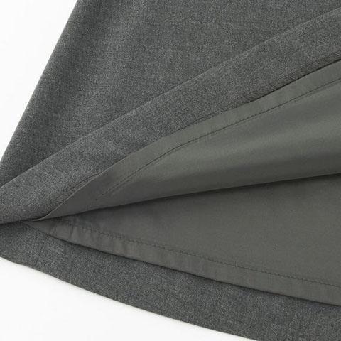 ストレッチフレアスカート(無地・ストライプ・ロング丈)、05 GRAY