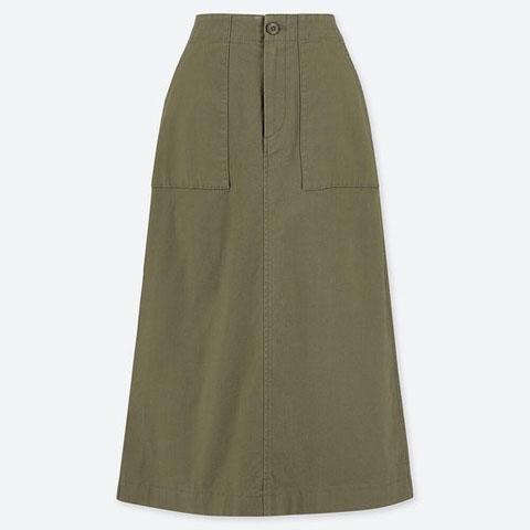 ベイカースカート(丈標準74~78cm)、57 OLIVE