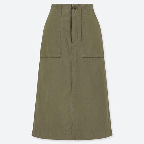 ベイカースカート(丈短め68~72cm)、57 OLIVE